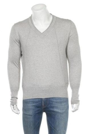 Мъжки пуловер Boss Orange, Размер M, Цвят Сив, 58% памук, 25% вискоза, 10% полиамид, 7% коприна, Цена 88,00лв.