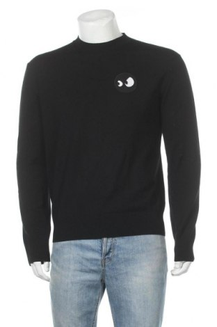 Мъжки пуловер McQ Alexander McQueen, Размер S, Цвят Черен, 100% вълна, Цена 116,55лв.