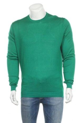 Pulover de bărbați Zara Man, Mărime XL, Culoare Verde, Bumbac, Preț 35,07 Lei