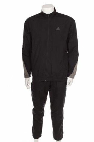 Мъжки спортен комплект Adidas, Размер M, Цвят Черен, Полиамид, Цена 47,25лв.
