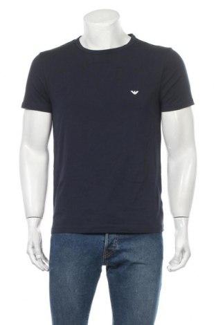 Пижама Emporio Armani Underwear, Размер M, Цвят Син, 95% памук, 5% еластан, Цена 64,50лв.