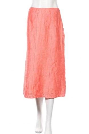 Φούστα Bianca, Μέγεθος M, Χρώμα Πορτοκαλί, 90% λινό, 10% πολυαμίδη, Τιμή 13,64€