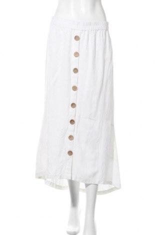 Φούστα Cream, Μέγεθος M, Χρώμα Λευκό, 85% βισκόζη, 15% λινό, Τιμή 24,49€