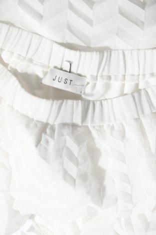 Φούστα Just Female, Μέγεθος L, Χρώμα Λευκό, Πολυεστέρας, Τιμή 53,74€