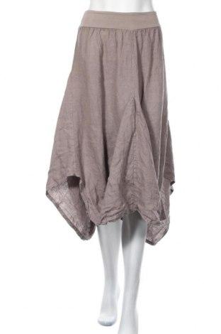 Φούστα Made In Italy, Μέγεθος M, Χρώμα  Μπέζ, Λινό, Τιμή 16,89€