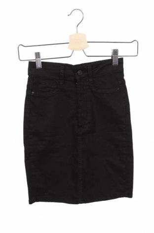 Φούστα Perfect Jeans By Gina Tricot, Μέγεθος XXS, Χρώμα Μαύρο, 98% βαμβάκι, 2% ελαστάνη, Τιμή 12,47€