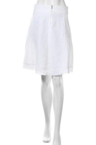 Φούστα United Colors Of Benetton, Μέγεθος S, Χρώμα Λευκό, Λινό, Τιμή 15,59€