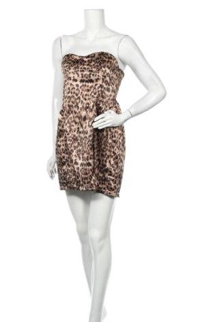 Φόρεμα Ax Paris, Μέγεθος M, Χρώμα  Μπέζ, 65% πολυεστέρας, 30% βαμβάκι, 5% ελαστάνη, Τιμή 28,58€