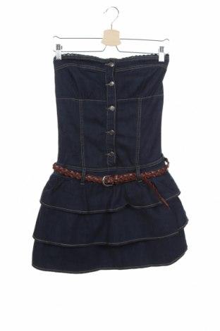 Φόρεμα Fishbone, Μέγεθος S, Χρώμα Μπλέ, 99% βαμβάκι, 1% ελαστάνη, Τιμή 15,43€