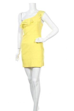 Φόρεμα Fishbone, Μέγεθος L, Χρώμα Κίτρινο, Πολυεστέρας, Τιμή 22,08€
