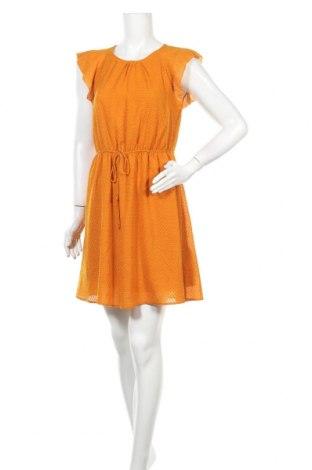 Рокля H&M, Размер M, Цвят Жълт, Полиестер, Цена 27,30лв.