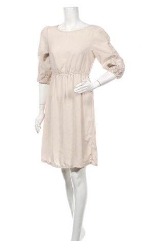 Рокля H&M, Размер M, Цвят Бежов, Полиестер, Цена 6,04лв.