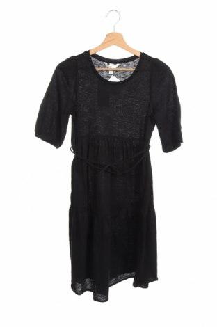 Рокля H&M Mama, Размер XS, Цвят Черен, Памук, Цена 11,03лв.