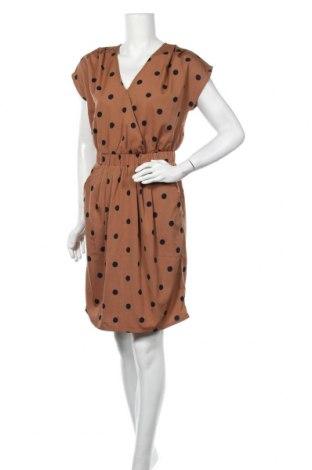 Φόρεμα Ichi, Μέγεθος S, Χρώμα Καφέ, Πολυεστέρας, Τιμή 19,77€