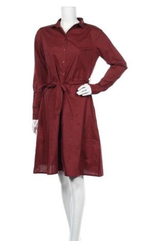 Φόρεμα Ichi, Μέγεθος M, Χρώμα Καφέ, Βαμβάκι, Τιμή 19,56€