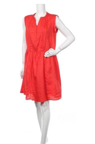 Φόρεμα La Redoute, Μέγεθος L, Χρώμα Κόκκινο, 55% λινό, 45% ραμί, Τιμή 13,51€