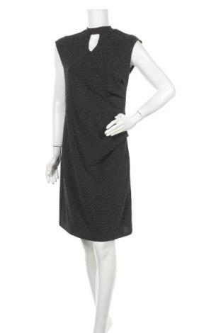 Φόρεμα Laura Torelli, Μέγεθος M, Χρώμα Μαύρο, 92% πολυεστέρας, 4% ελαστάνη, 4% μεταλλικά νήματα, Τιμή 17,54€