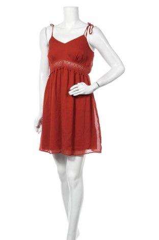 Φόρεμα Naf Naf, Μέγεθος M, Χρώμα Καφέ, Πολυεστέρας, Τιμή 20,13€