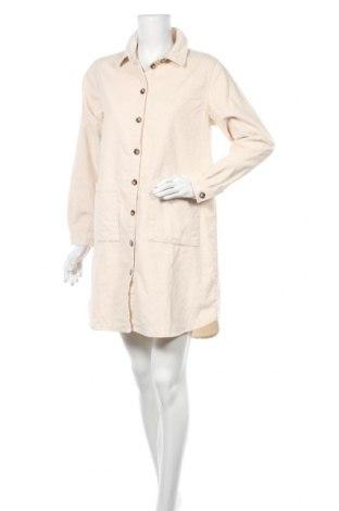 Φόρεμα Pieces, Μέγεθος M, Χρώμα  Μπέζ, Βαμβάκι, Τιμή 15,55€