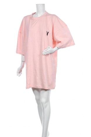 Φόρεμα Playboy x Missguided, Μέγεθος L, Χρώμα Ρόζ , Βαμβάκι, Τιμή 22,81€