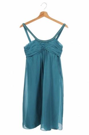 Φόρεμα Un Deux Trois, Μέγεθος XS, Χρώμα Μπλέ, Μετάξι, Τιμή 15,46€