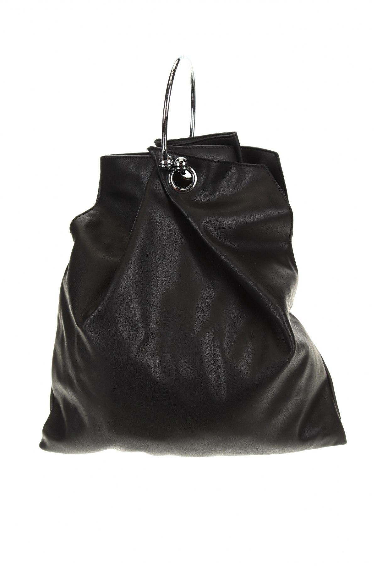 Дамска чанта Reserved, Цвят Черен, Еко кожа, Цена 29,67лв.