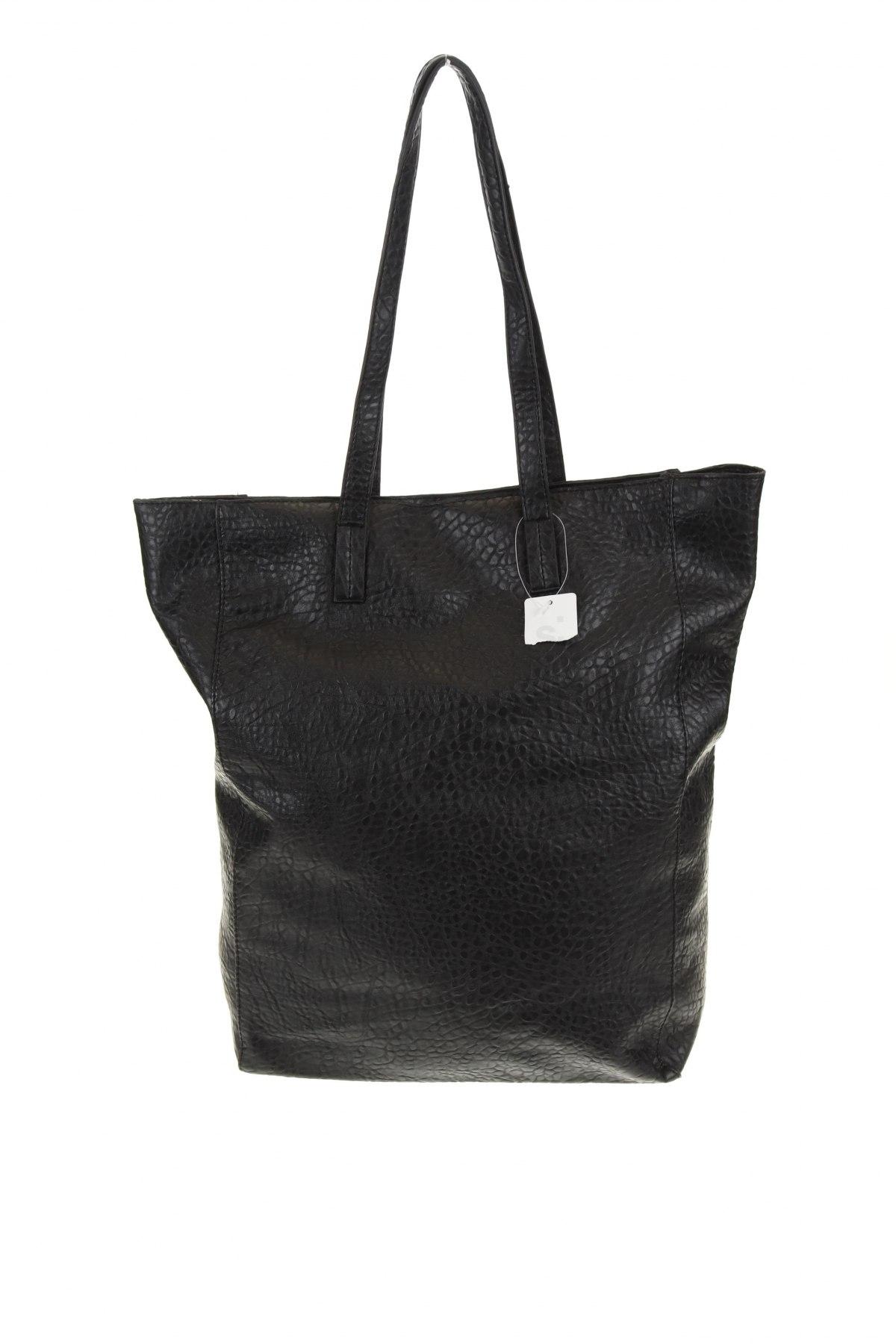 Γυναικεία τσάντα Sinsay, Χρώμα Μαύρο, Δερματίνη, Τιμή 13,08€