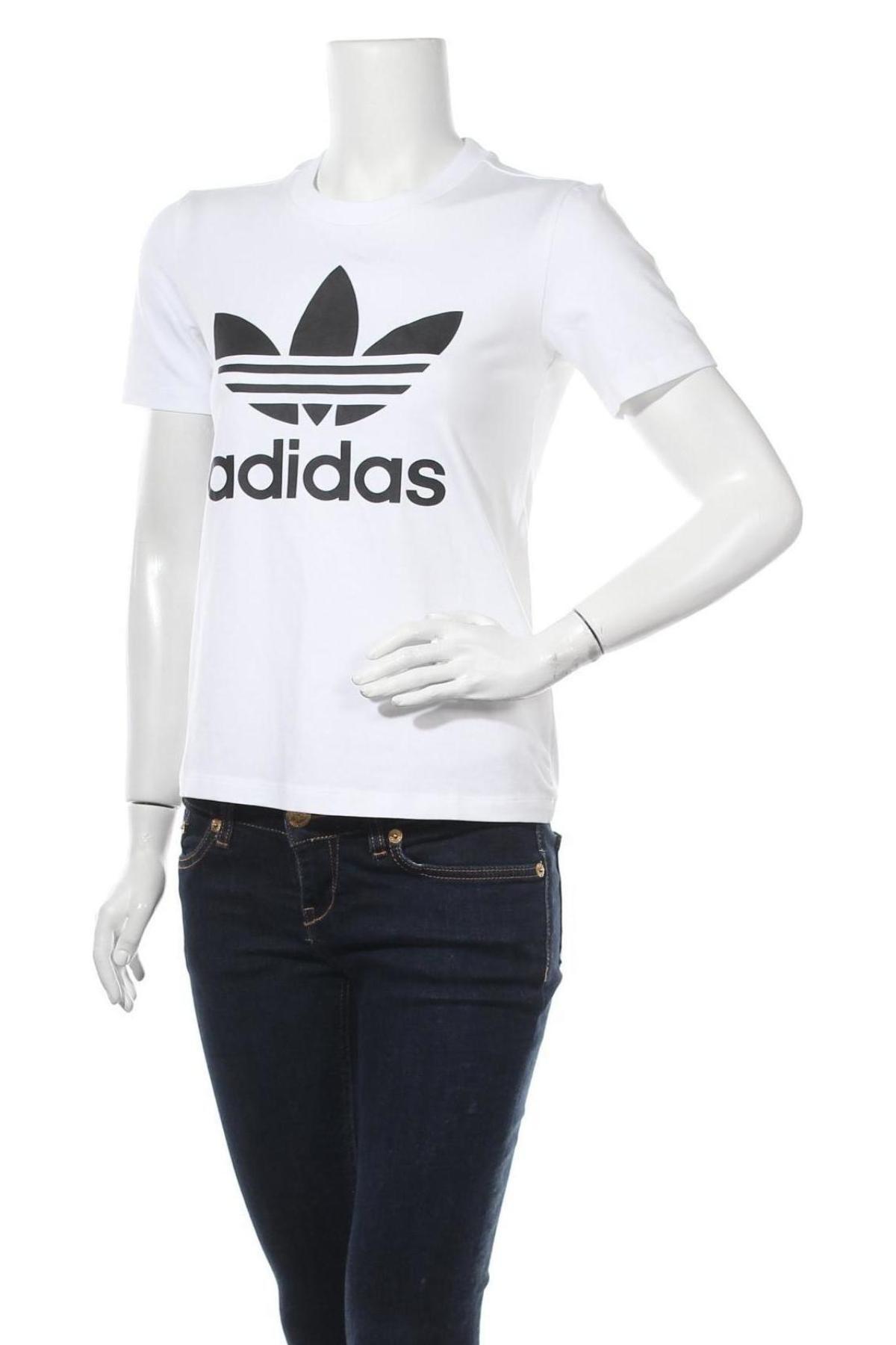 Дамска тениска Adidas Originals, Размер XS, Цвят Бял, Цена 51,75лв.