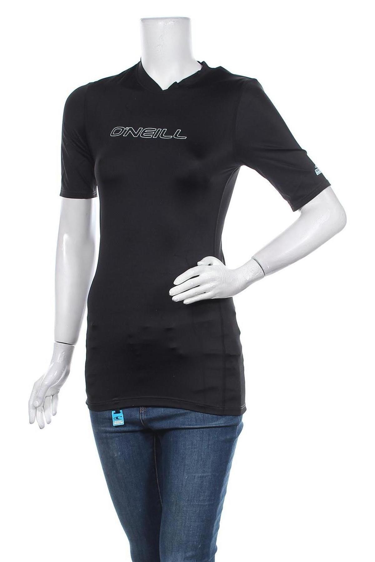 Дамска тениска O'neill, Размер L, Цвят Черен, 82% полиамид, 18% еластан, Цена 13,72лв.