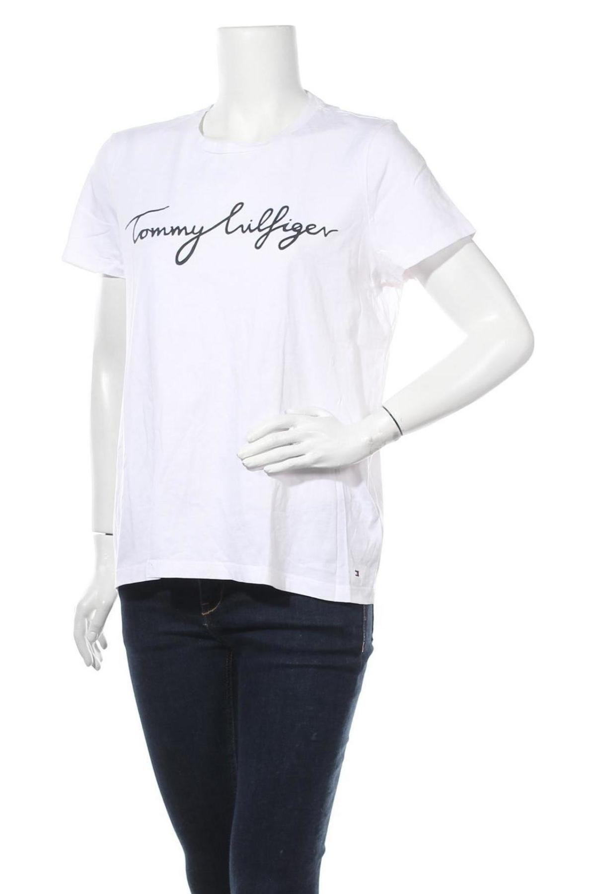Γυναικείο t-shirt Tommy Hilfiger, Μέγεθος XL, Χρώμα Ρόζ , Βαμβάκι, Τιμή 24,38€