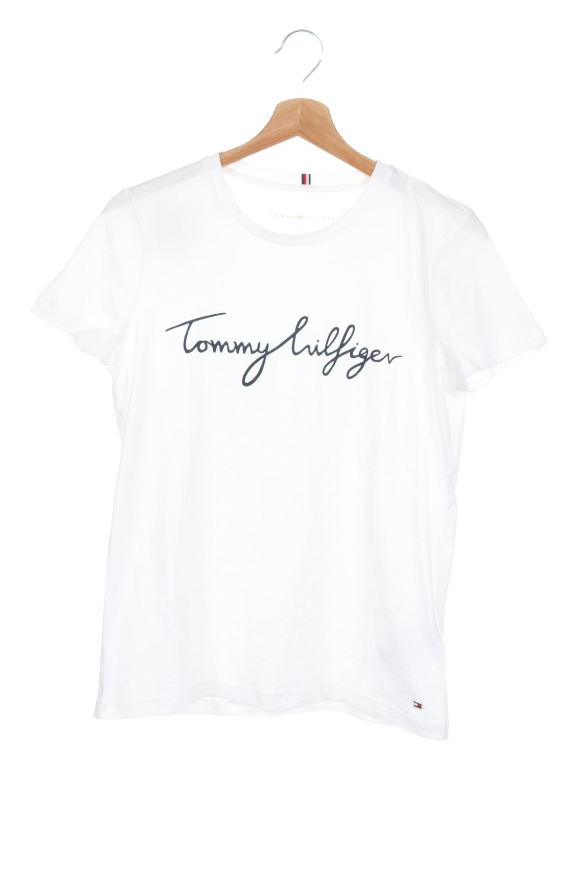 Дамска тениска Tommy Hilfiger, Размер XS, Цвят Бял, Памук, Цена 69,00лв.
