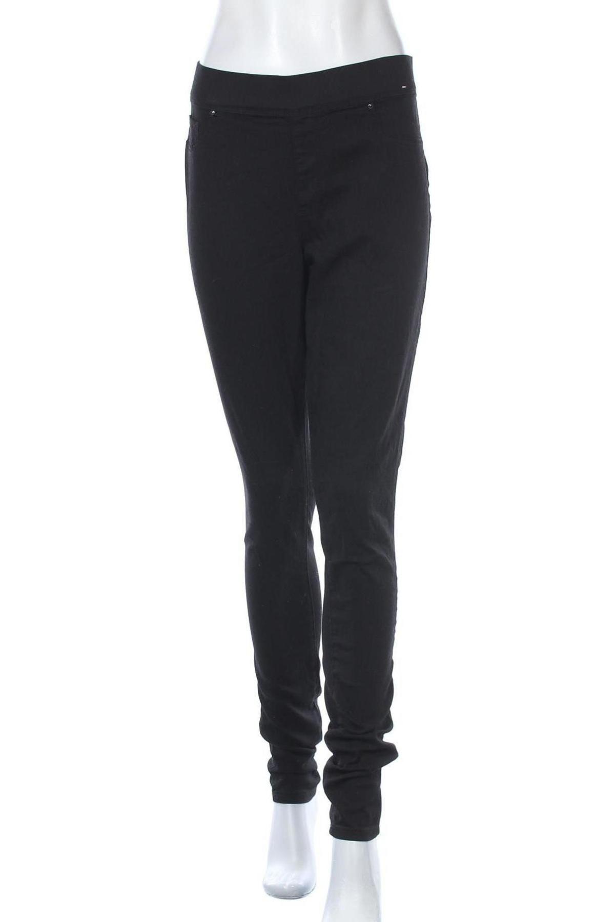 Дамски дънки Denim Co, Размер L, Цвят Черен, 56% памук, 22% полиестер, 20% вискоза, 2% еластан, Цена 23,52лв.