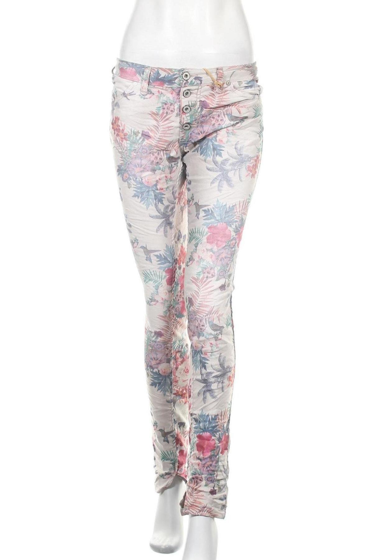 Дамски дънки Please, Размер M, Цвят Многоцветен, 75% памук, 22% полиестер, 3% еластан, Цена 37,18лв.