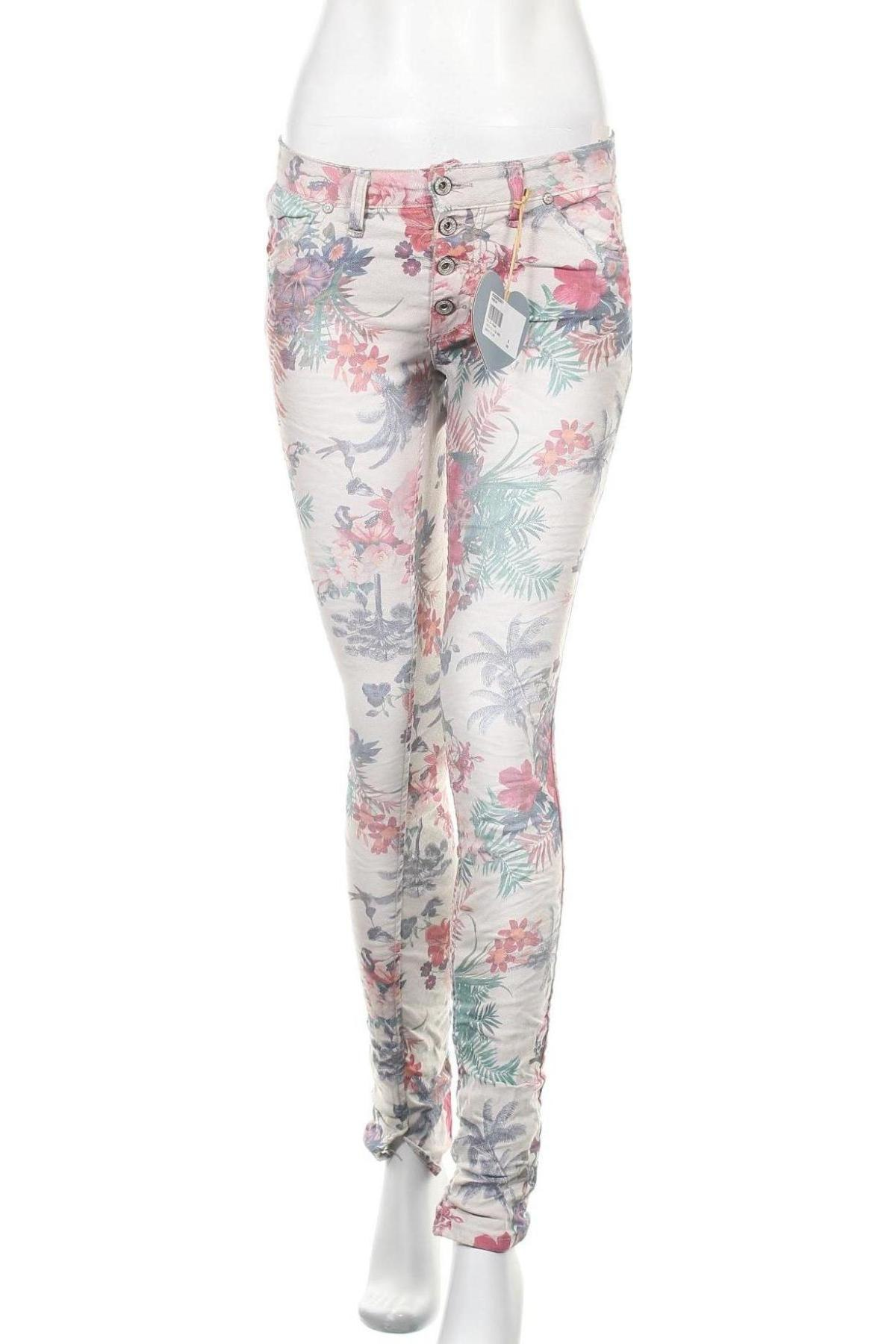 Дамски дънки Please, Размер S, Цвят Многоцветен, 75% памук, 22% полиестер, 3% еластан, Цена 114,92лв.