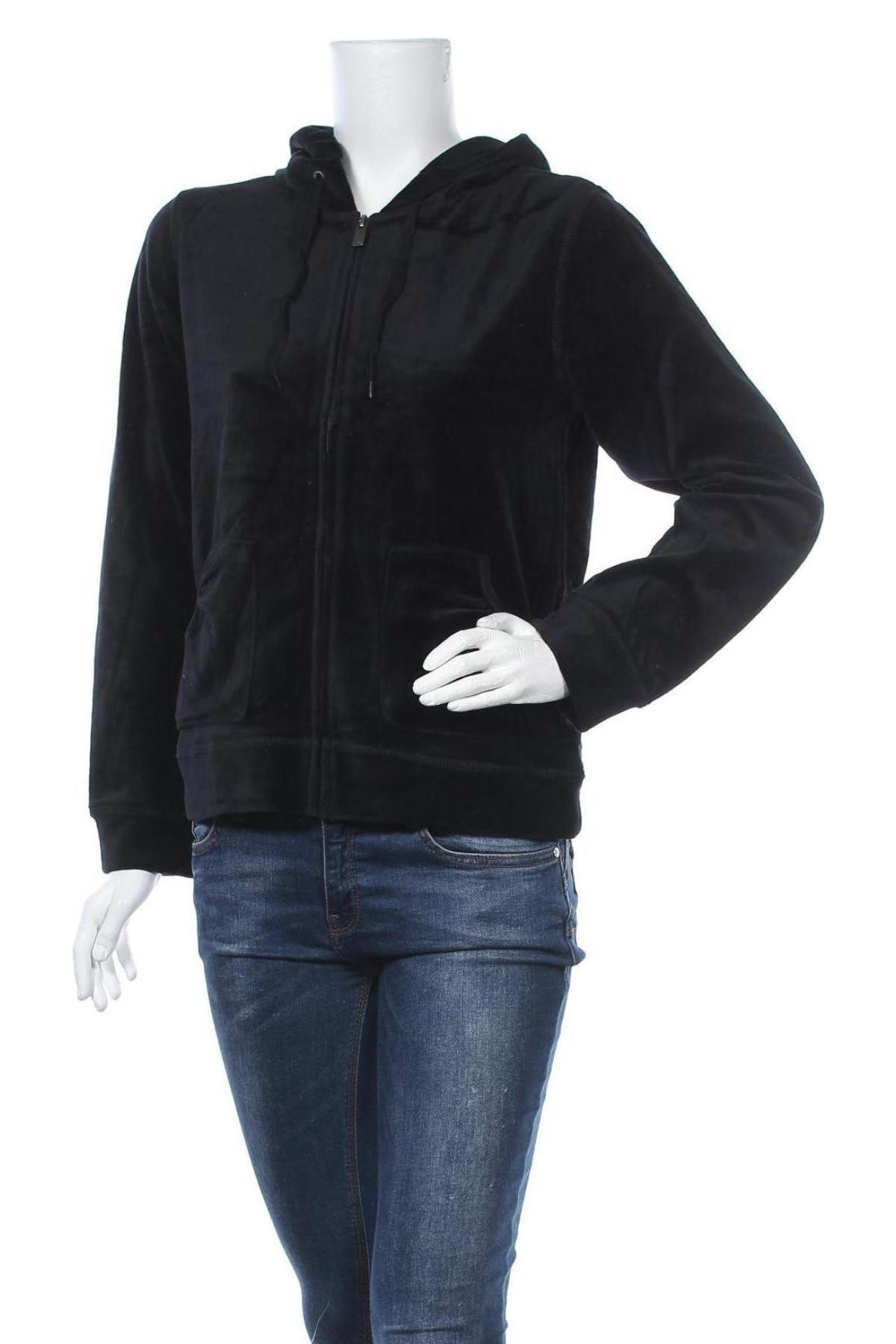 Дамски суичър, Размер M, Цвят Черен, 77% памук, 23% полиестер, Цена 17,10лв.
