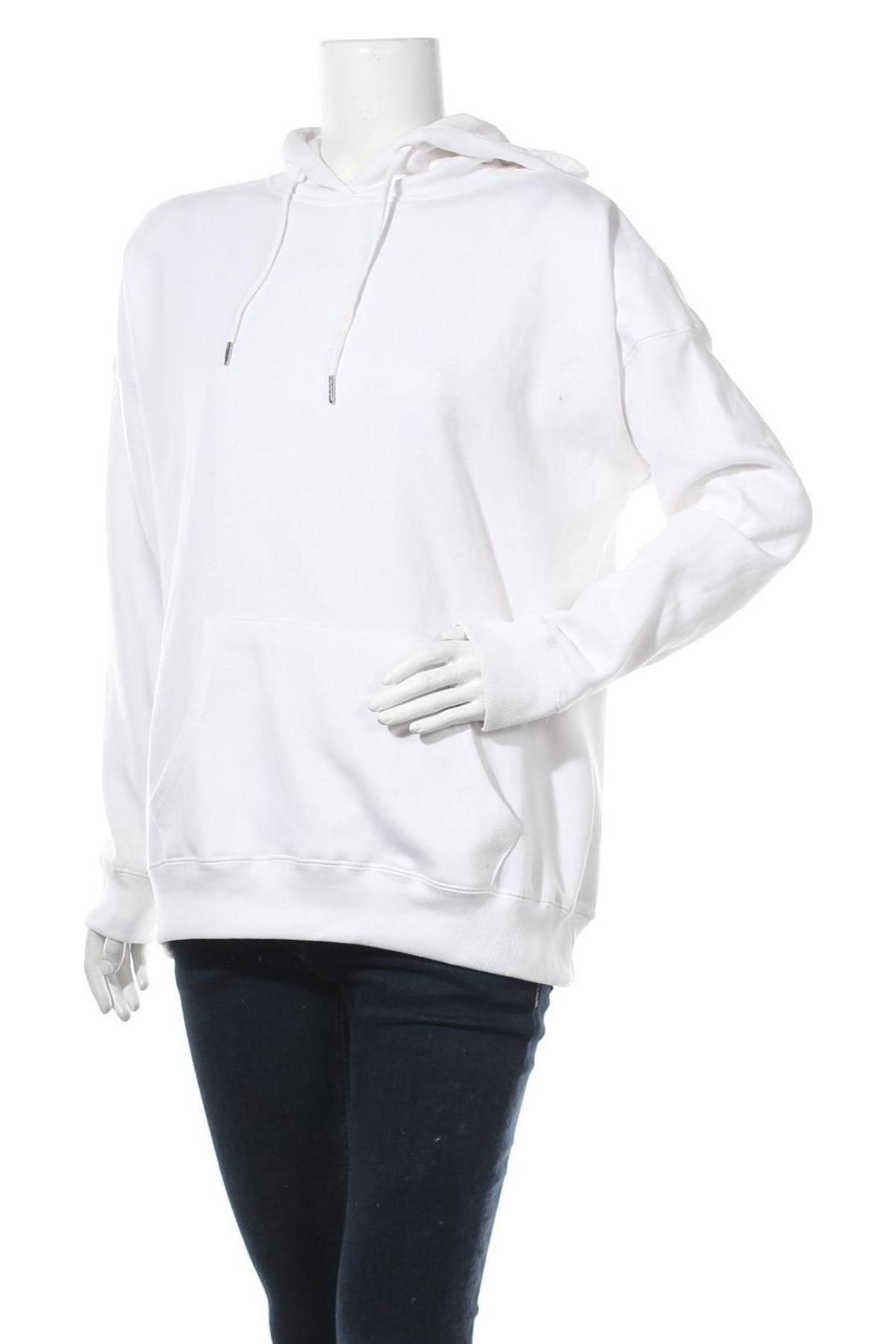 Дамски суичър New Look, Размер M, Цвят Бял, 50% памук, 50% полиестер, Цена 23,10лв.