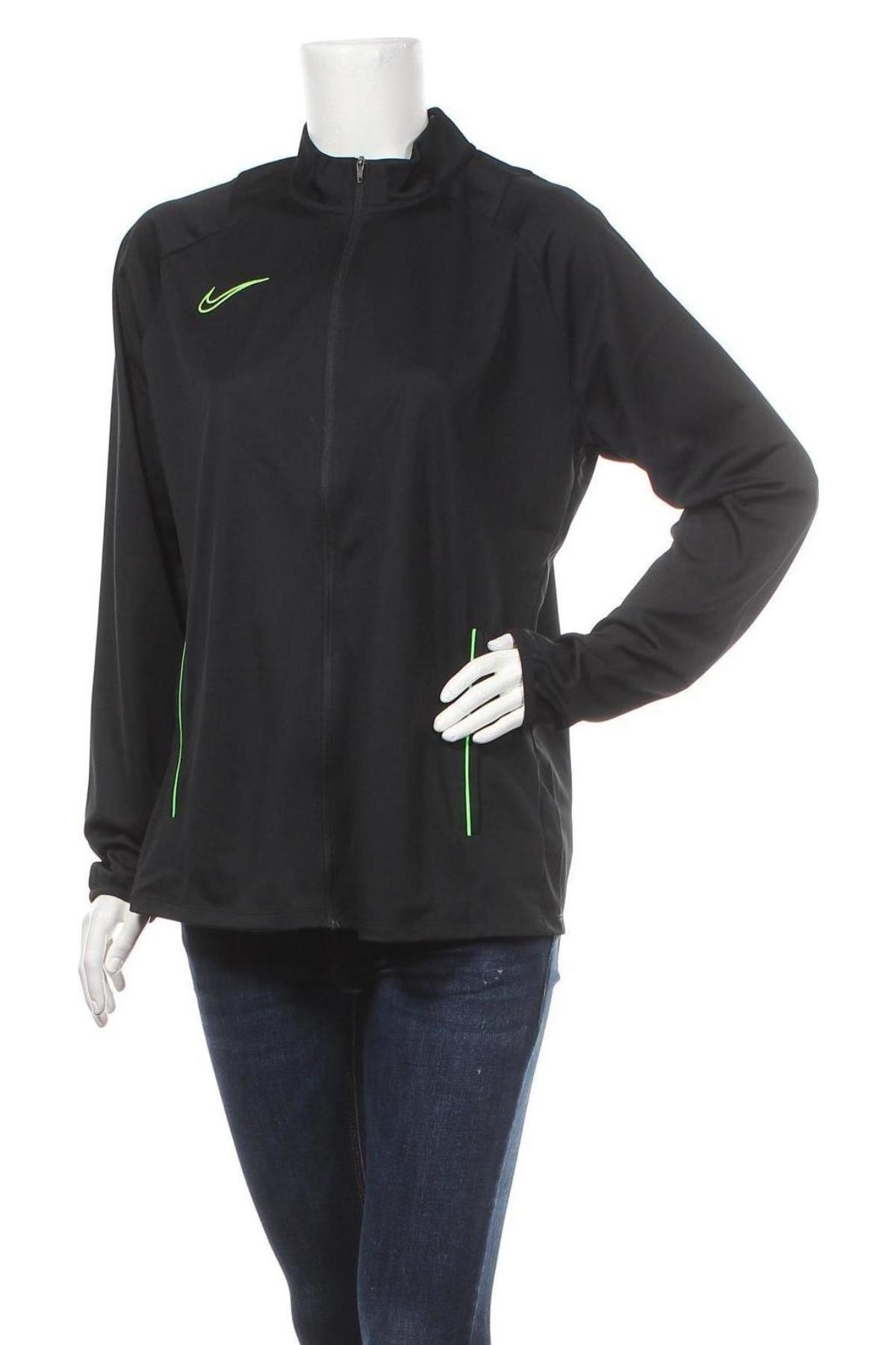 Дамско спортно горнище Nike, Размер XL, Цвят Черен, Полиестер, Цена 47,52лв.