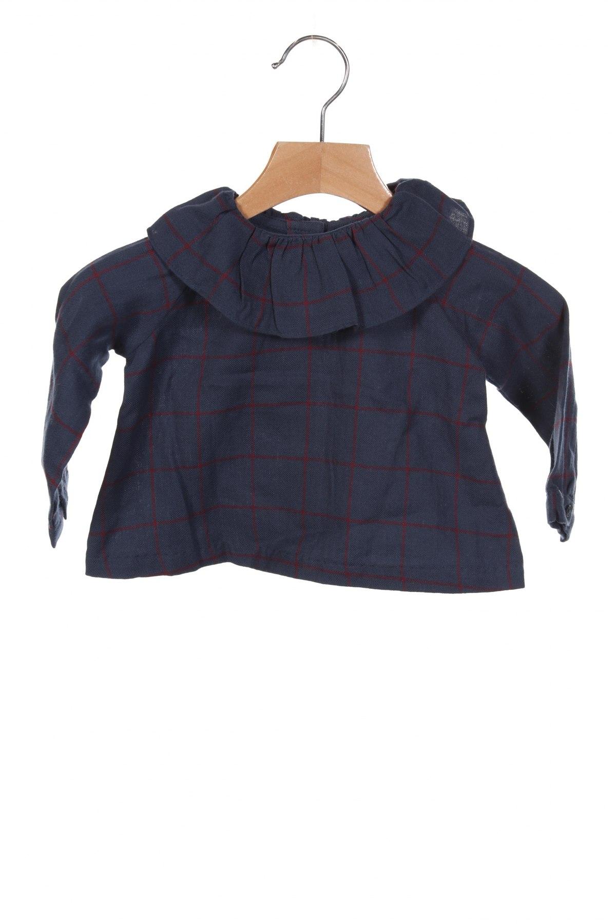 Детска блуза Gocco, Размер 6-9m/ 68-74 см, Цвят Син, Памук, Цена 36,75лв.