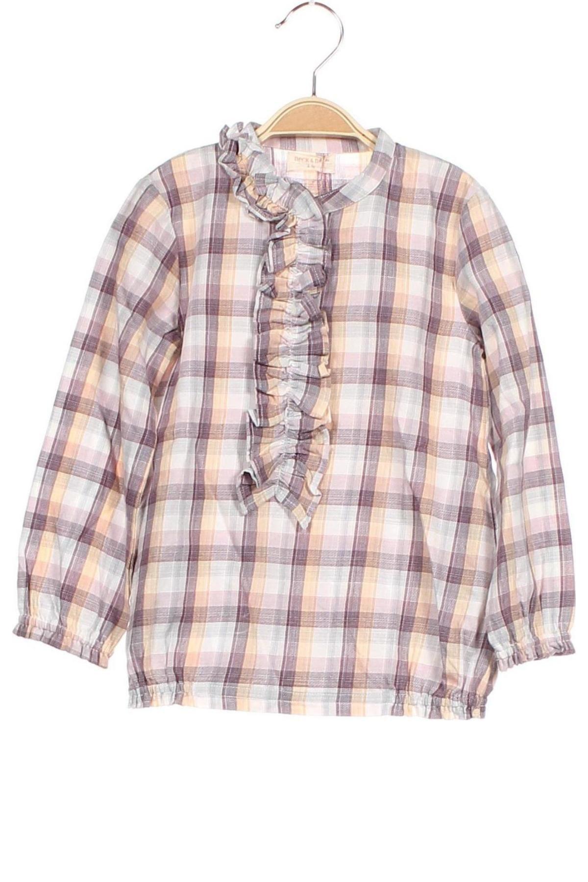 Детска блуза Neck & Neck, Размер 4-5y/ 110-116 см, Цвят Многоцветен, Памук, Цена 36,75лв.