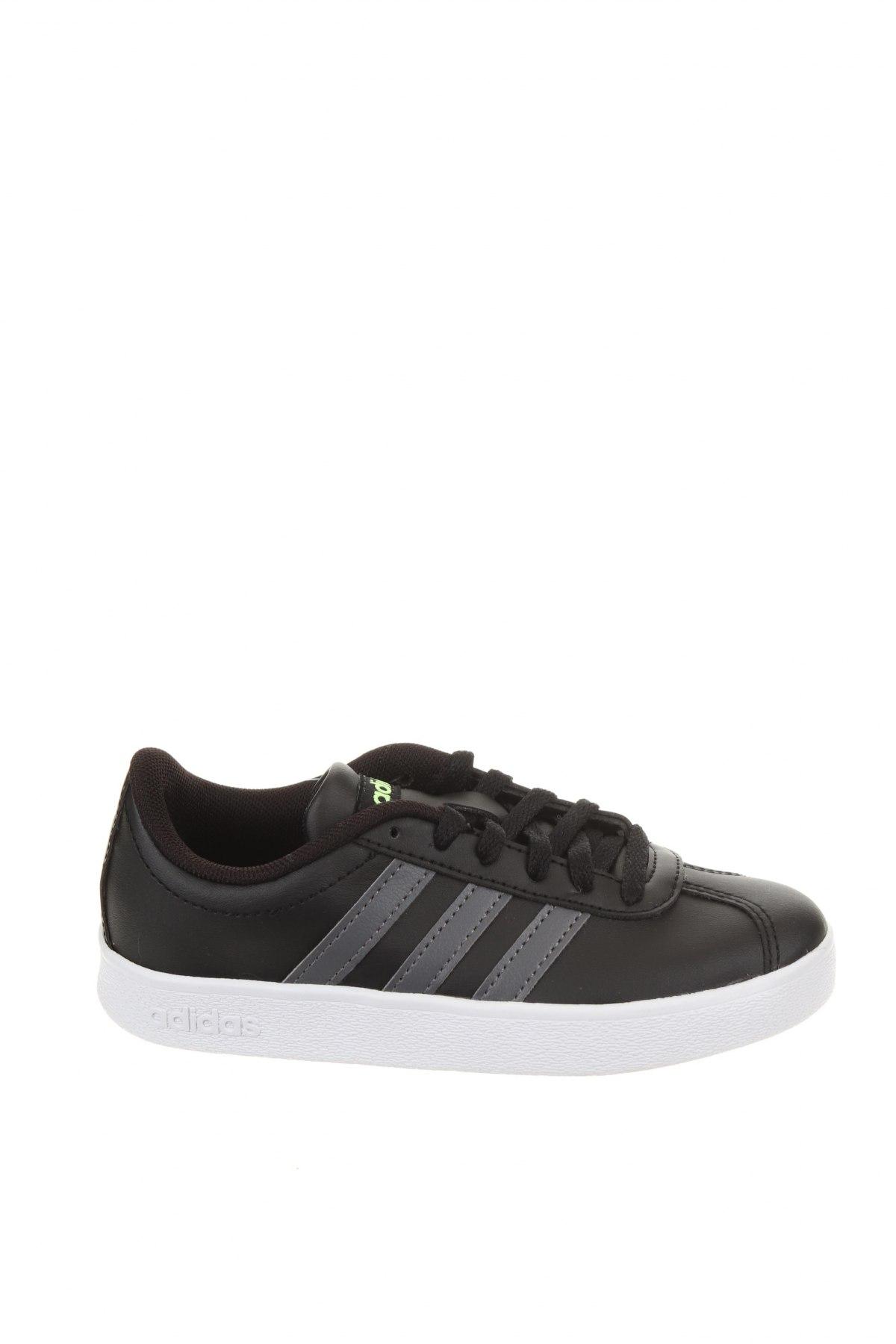Детски обувки Adidas, Размер 30, Цвят Черен, Еко кожа, Цена 44,70лв.