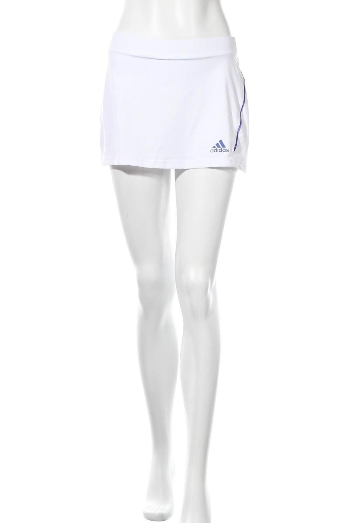 Пола - панталон Adidas, Размер XS, Цвят Бял, 82% полиестер, 18% еластан, Цена 23,70лв.