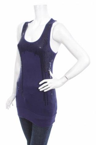 Γυναικείο αμάνικο μπλουζάκι One Love, Μέγεθος M, Χρώμα Μπλέ, Τιμή 2,97€