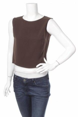 Γυναικείο αμάνικο μπλουζάκι Paolo Tonali, Μέγεθος S, Χρώμα Καφέ, Πολυεστέρας, Τιμή 3,25€