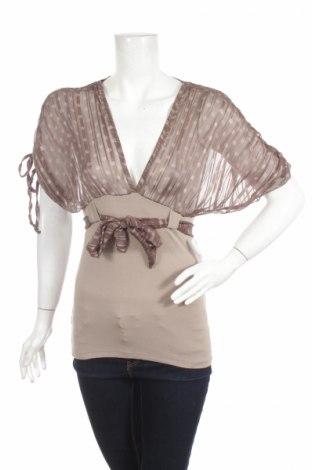 Дамска блуза Donadoni, Размер M, Цвят Кафяв, 90% вискоза, 10% еластан, Цена 6,24лв.
