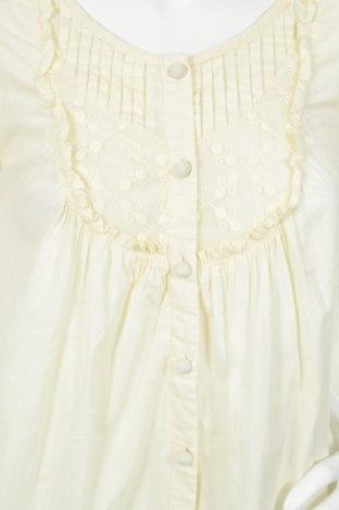 Γυναικείο πουκάμισο, Μέγεθος M, Χρώμα Κίτρινο, Βαμβάκι, Τιμή 11,86€