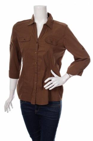 Γυναικείο πουκάμισο Bonita, Μέγεθος S, Χρώμα Καφέ, 70% βαμβάκι, 25% πολυαμίδη, 5% ελαστάνη, Τιμή 15,46€