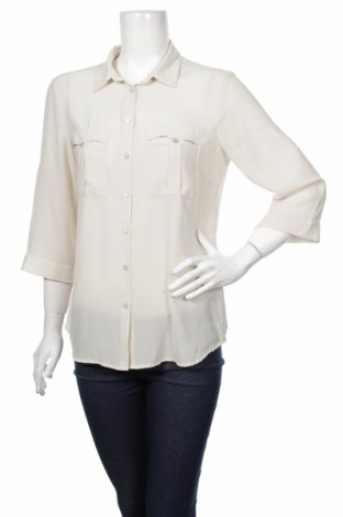 Γυναικείο πουκάμισο H&M, Μέγεθος L, Χρώμα  Μπέζ, 100% πολυεστέρας, Τιμή 15,46€