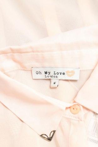 Γυναικείο πουκάμισο Oh My Love, Μέγεθος M, Χρώμα Ρόζ , Τιμή 12,37€