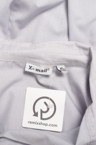 Γυναικείο πουκάμισο X-Mail, Μέγεθος XL, Χρώμα Γκρί, 65% πολυεστέρας, 35% βαμβάκι, Τιμή 15,46€