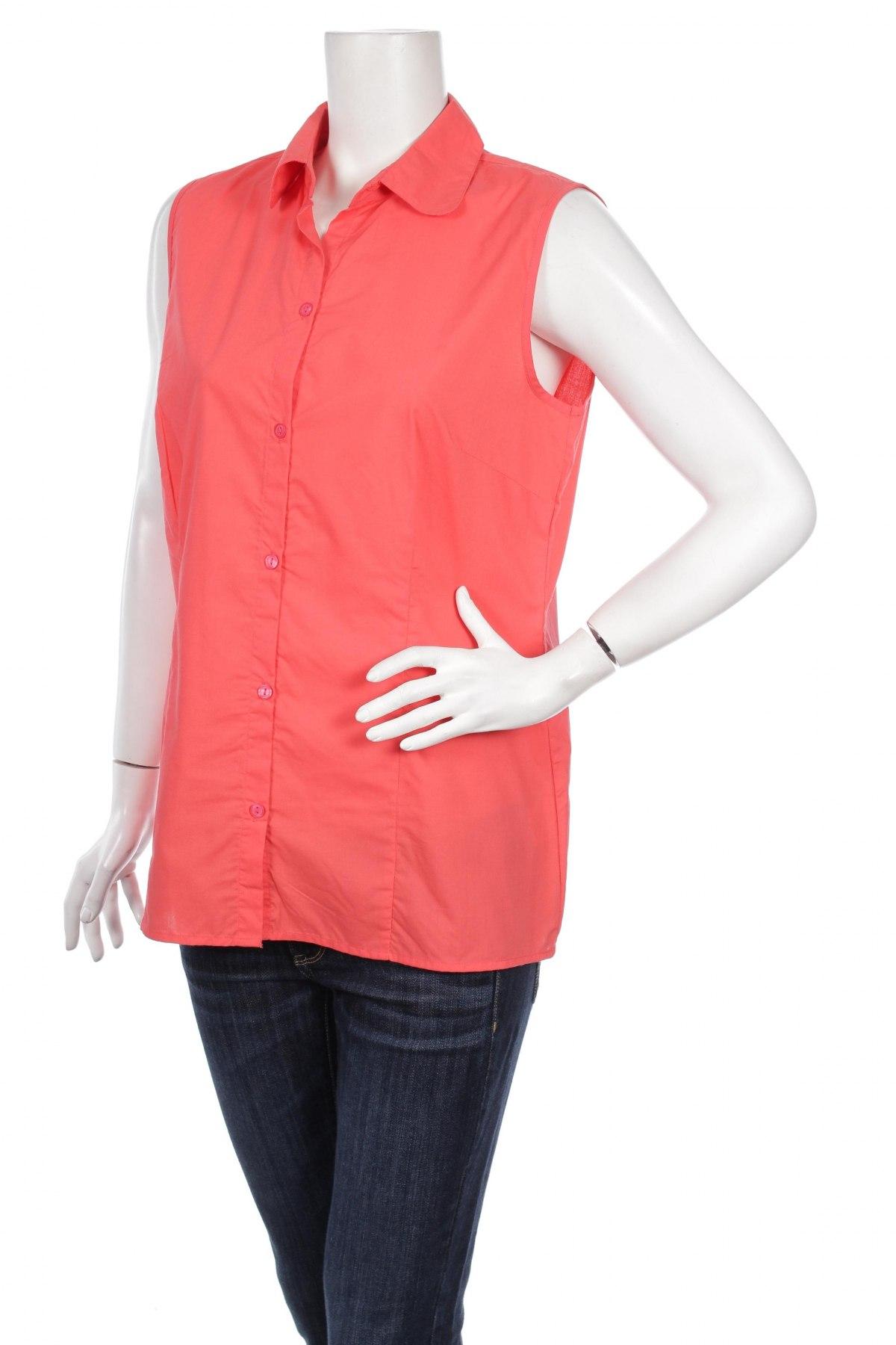 Γυναικείο πουκάμισο, Μέγεθος M, Χρώμα Κόκκινο, 65% πολυεστέρας, 35% βαμβάκι, Τιμή 9,90€